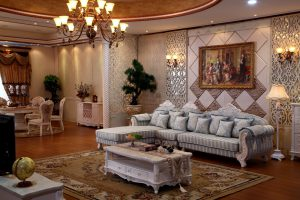 An aristocratic livingroom