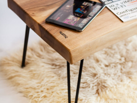 Coffee Table Walnut Minimal Design Hairpin Legs