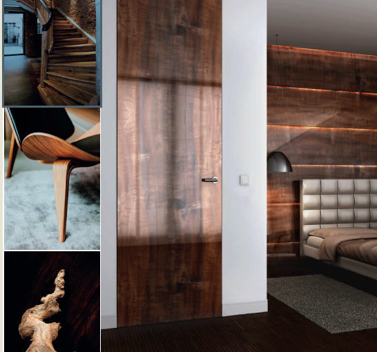 Dormitor modern - linia lemn