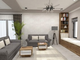 Design interior living si bucatarie