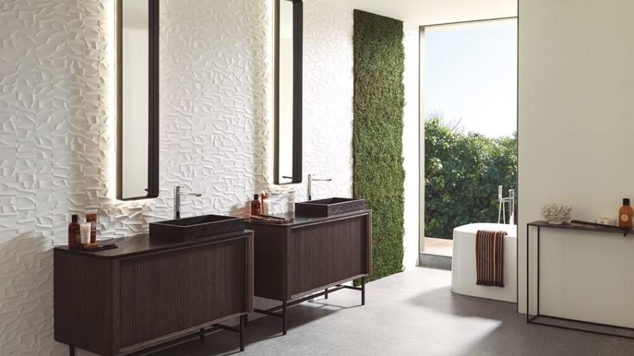 Ambient baie realizat integral cu produse Porcelanosa Grupo