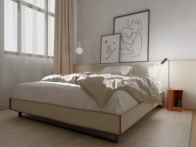 Dormitor minimalist in tonuri neutre